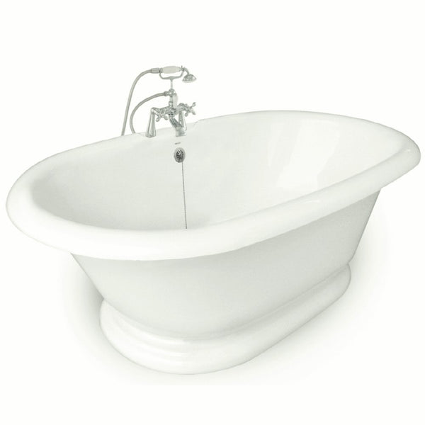 Earl Double Pedestal Bathtub  Bathtub - American Bath Factory