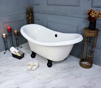 "67"" Clawfoot Double Slipper Bathtub  Bathtub - American Bath Factory"
