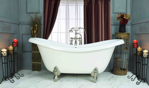 "67"" Double Slipper Clawfoot Bathtub  Bathtub - American Bath Factory"