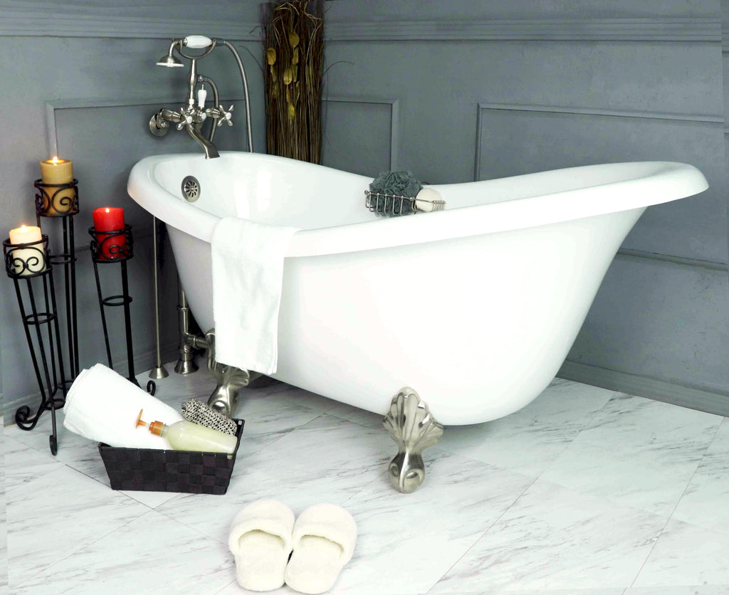 "60"" Clawfoot Slipper Bathtub"