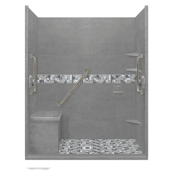 "Freedom Access 1"" Threshold Collection Newport Alcove Shower Kit - American Bath Factory"