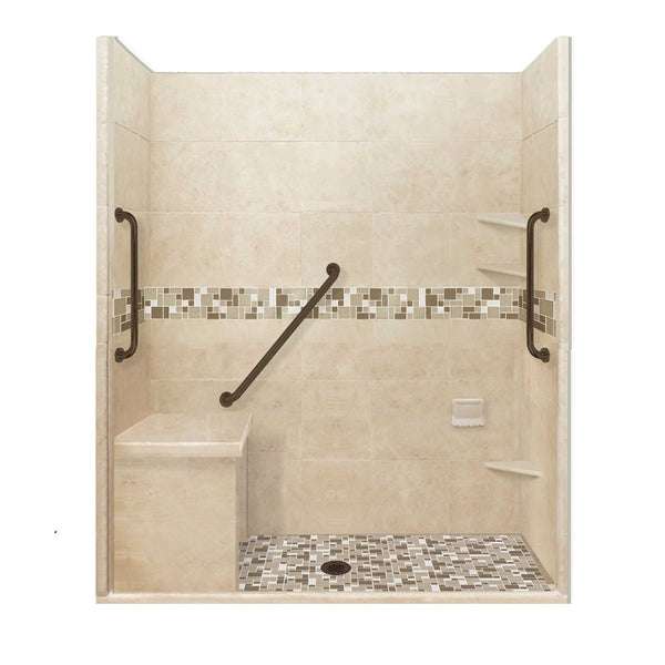 "Freedom Access 1"" Threshold Collection Tuscany Alcove Shower Kit"