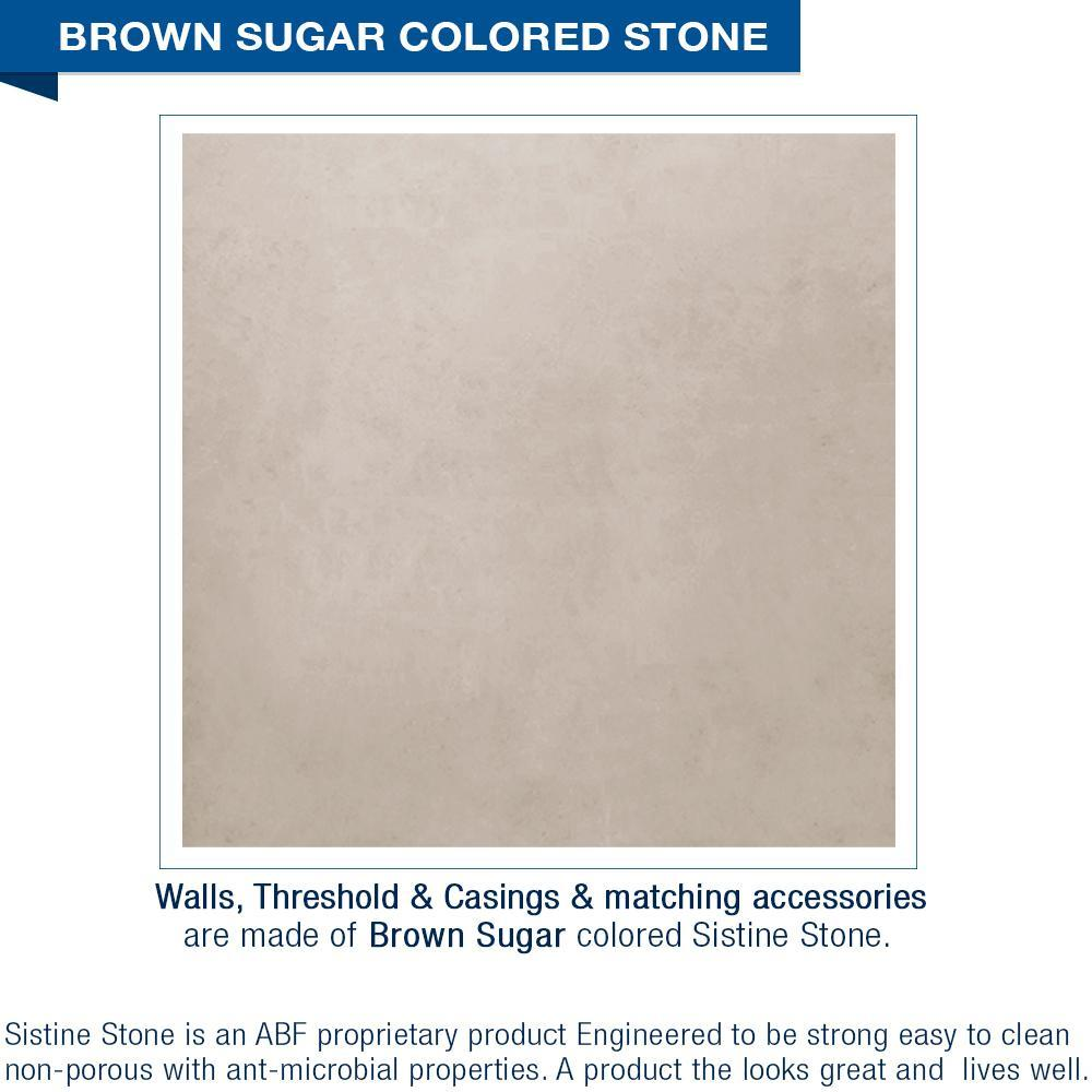 Classic Brown Sugar Small Alcove Shower Kit