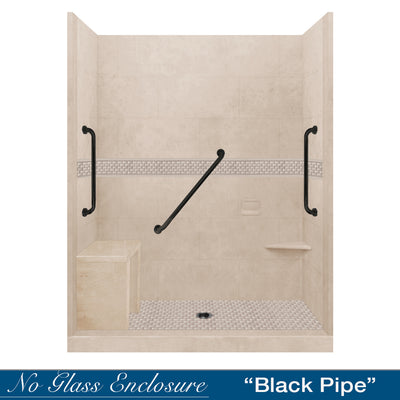 "Freedom Jewel Brown Sugar 60"" Alcove Shower Kit"