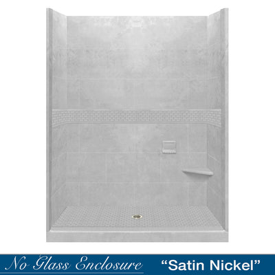"Classic Portland Cement 60"" Alcove Shower Kit"