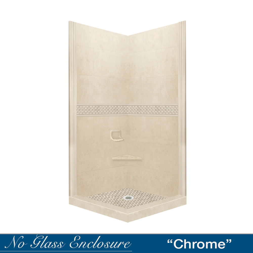 Jewel Desert Sand Corner Shower Kit