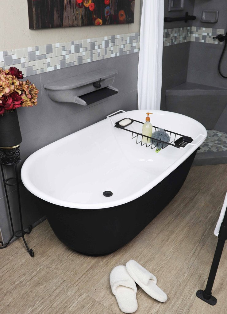 "Modern 60"" Tub with Waterfall Faucet - New Product Promotion"