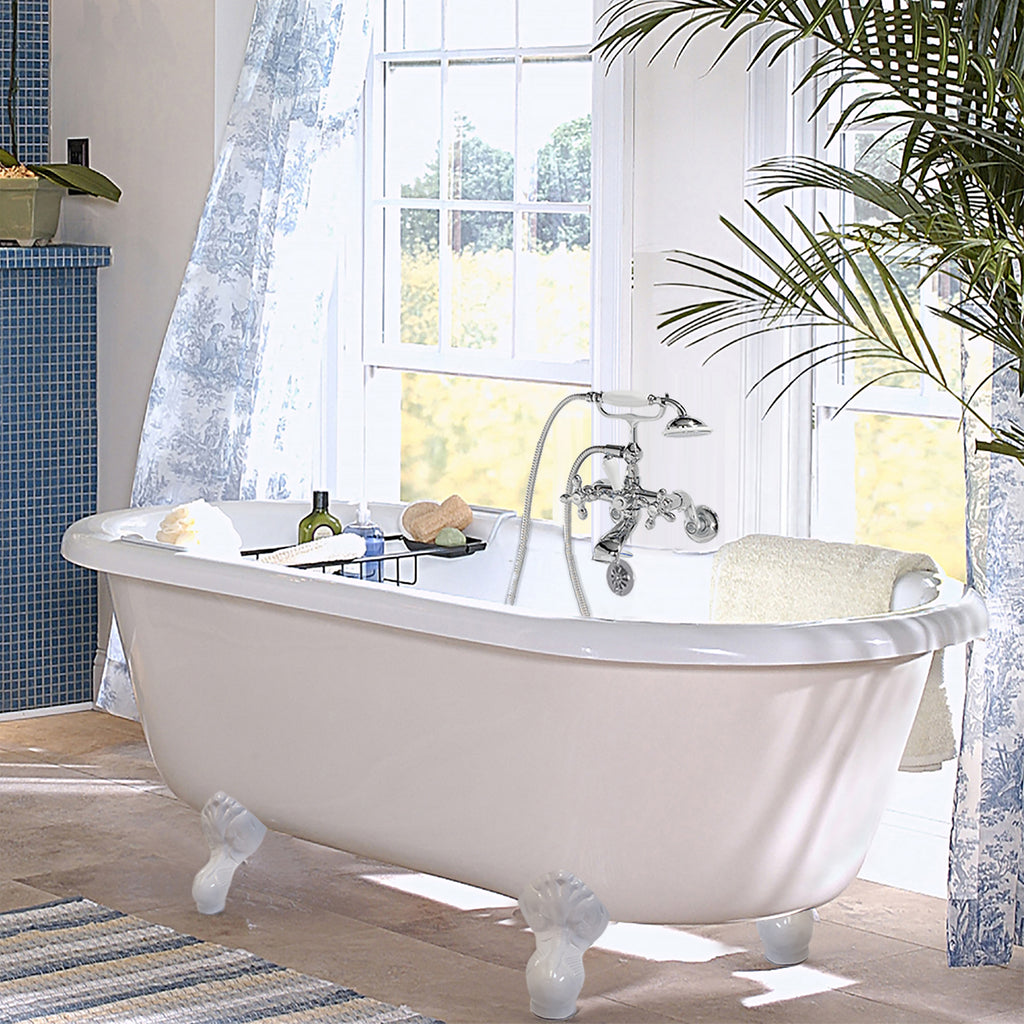 white tub francesca acrylic ren clawfoot coreacryl p ended double wide extra package htm