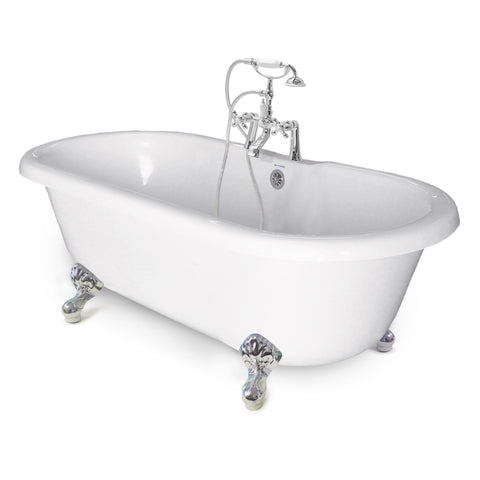 "Chelsea Double Ended 60"" Clawfoot Bathtub - American Bath Factory"