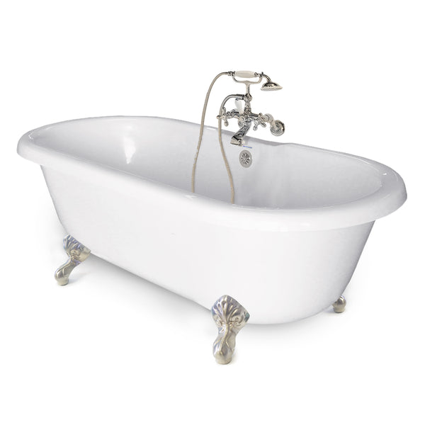 "Chelsea Double Ended 60"" Clawfoot Tub - American Bath Factory"