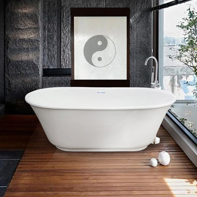 "Modern 60"" Tub with Waterfall Faucet - New Product Promotion   - American Bath Factory"
