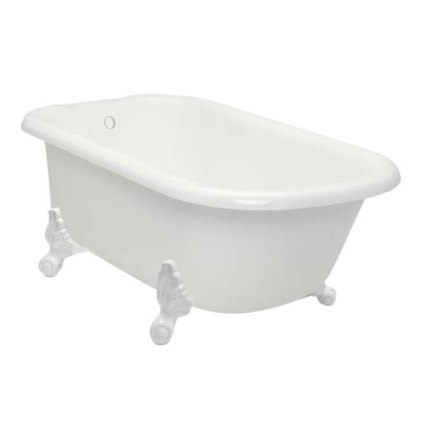 "Clearance - 54"" Classic Clawfoot Bathtub with free splash of color - American Bath Factory"