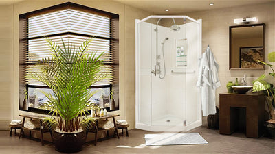 Classic Collection Natural Buff Neo Shower Kit  Shower - American Bath Factory