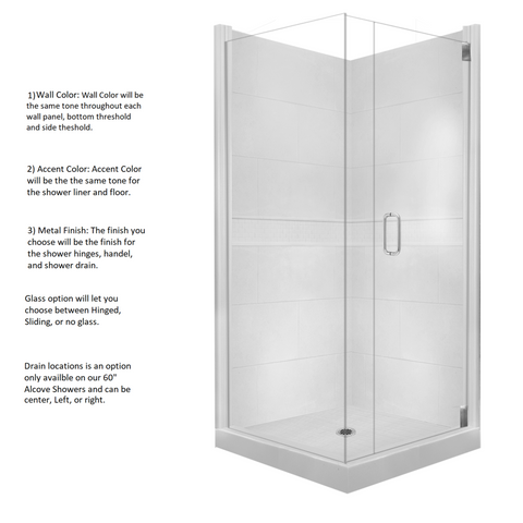 Classic Corner Shower Kit Style & Color Options  Shower Kit - American Bath Factory