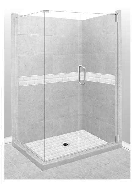 Subway Corner Shower Kit Style & Color Options  Test Shower Kit - American Bath Factory
