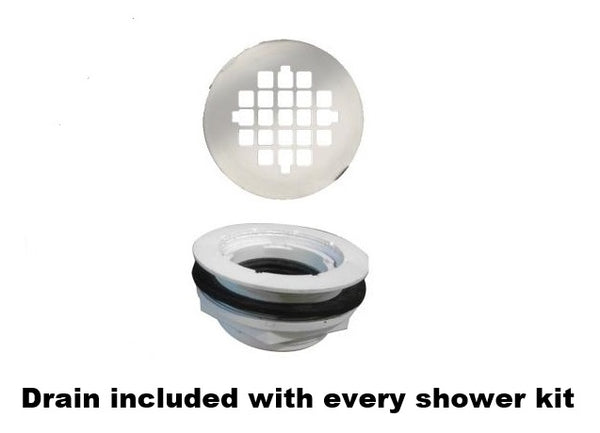 Alcove Jewel Shower Kit - American Bath Factory