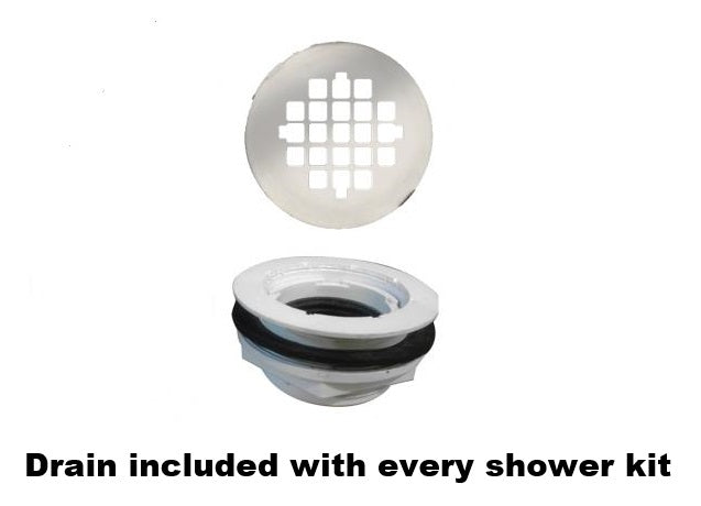 "Pebble 60"" Alcove Shower Kit Style & Color Options  Test Shower - American Bath Factory"