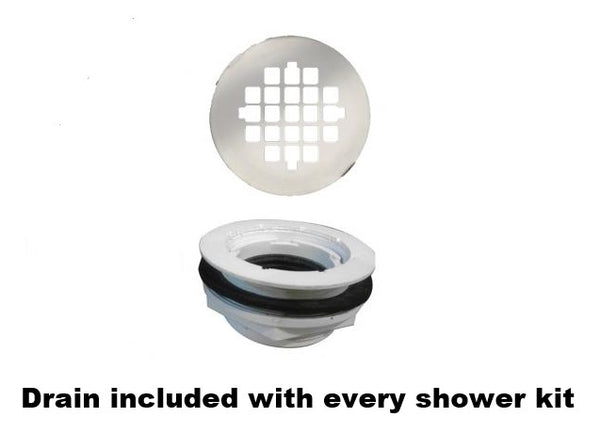 "Pebble 60"" Alcove Shower Kit Style & Color Options"