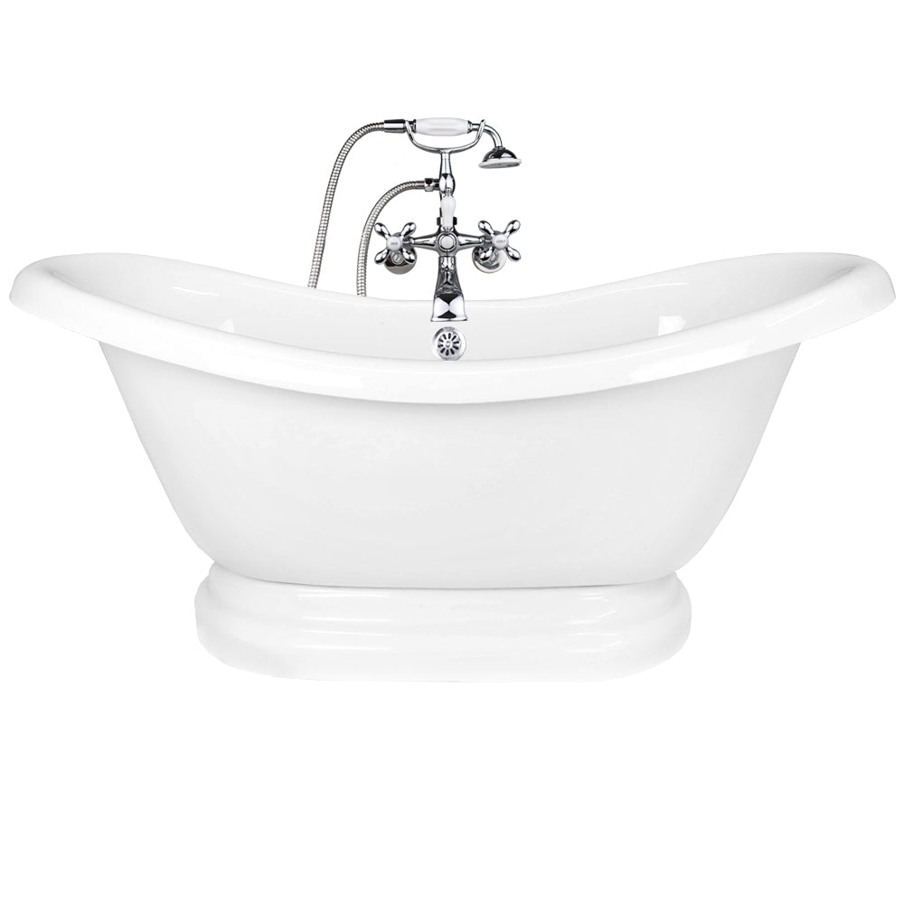 "Double Slipper 67"" Pedestal Base  - CLEARANCE  Clearance Bathtub - American Bath Factory"