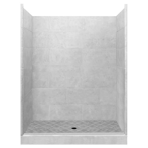 "4x4 60"" Alcove Shower Kit Style & Color Options  Test Shower - American Bath Factory"