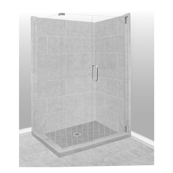 4x4 Corner Shower Kit Style & Color Options - American Bath Factory