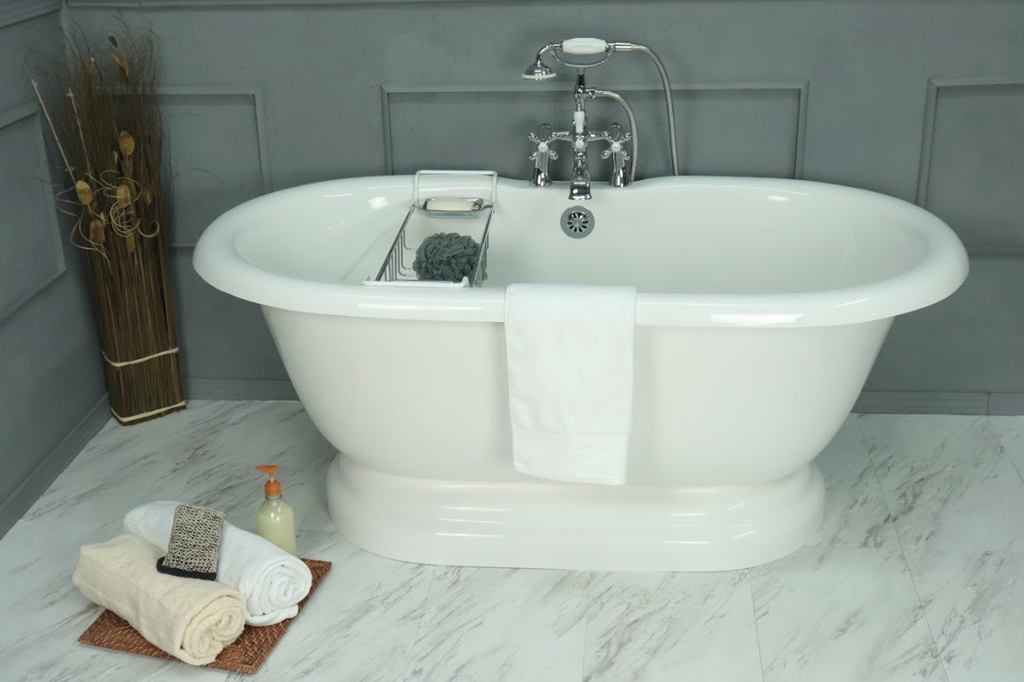 Earl Double Pedestal Bathtub – American Bath Factory