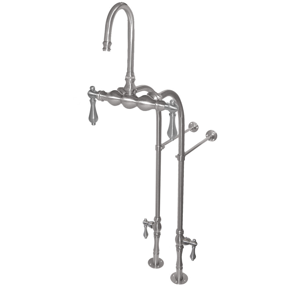 F300C Free Standing Floor Mount Goose Neck Faucet  Faucet - American Bath Factory