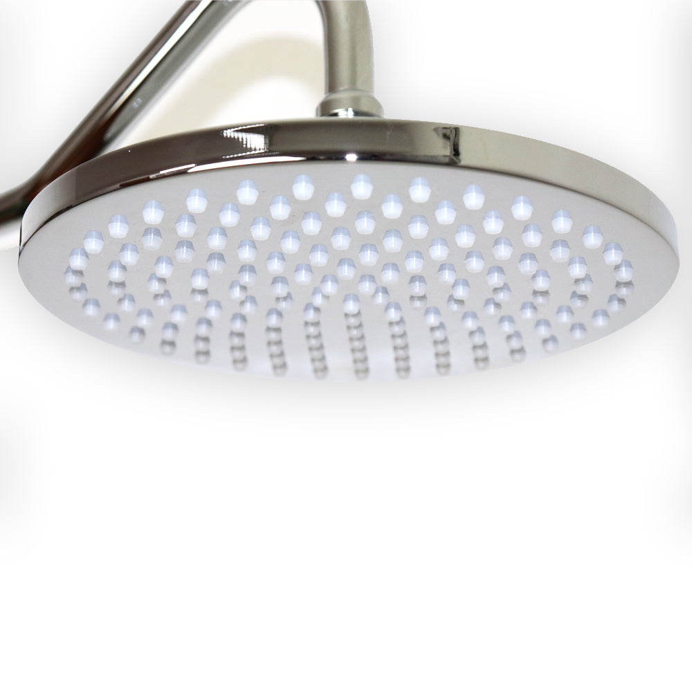 "F92FF-CH Two In Wall Pressure Balanced Shower Valves, one Flat 8.75"" Showerhead, one Massaging Hand Shower"