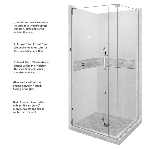 Diamond Corner Shower Kit Style & Color Options  Shower Kit - American Bath Factory