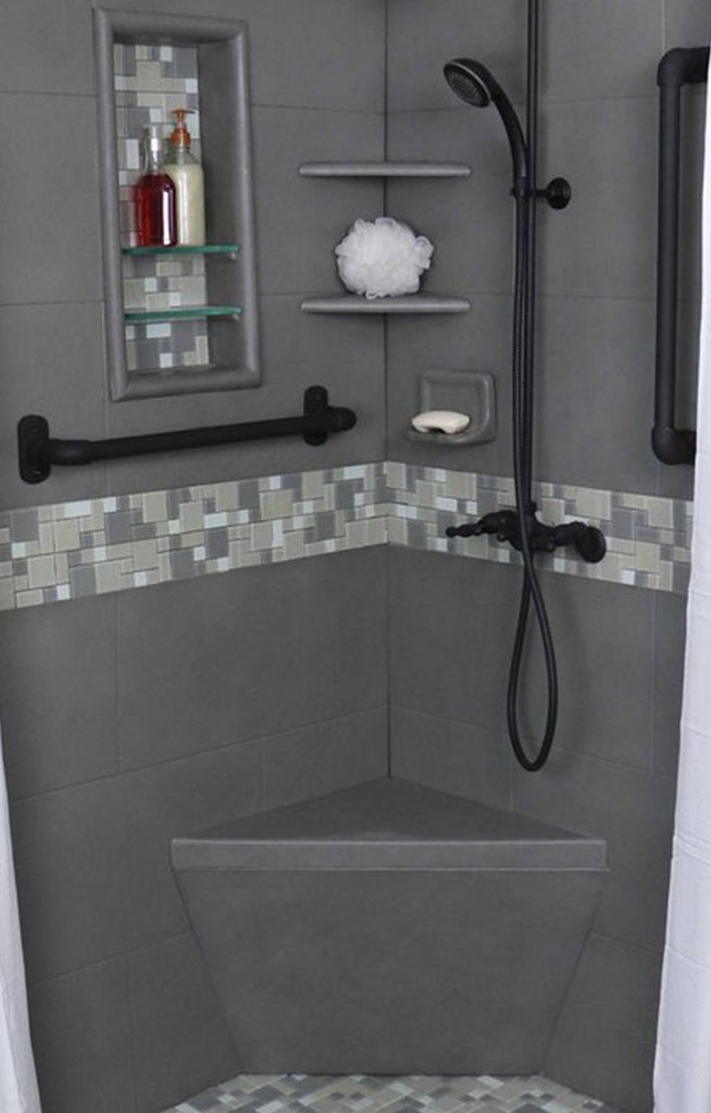 Freedom Package Upgrade with Corner Bench  Shower Detail - American Bath Factory