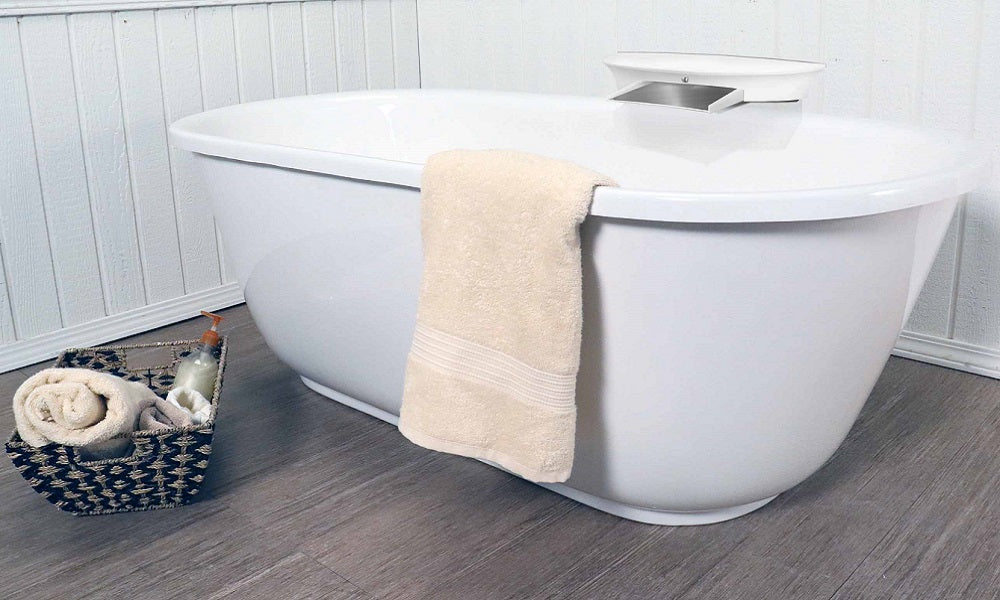 Modern Soaking Tub with F800W Faucet – American Bath Factory