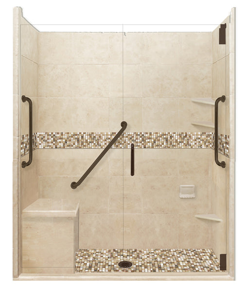 "Freedom Access 1"" Threshold Collection Roma Alcove Shower Kit"