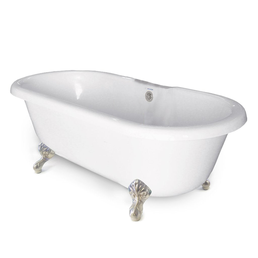 "70"" Clawfoot Double Ended Bathtub"