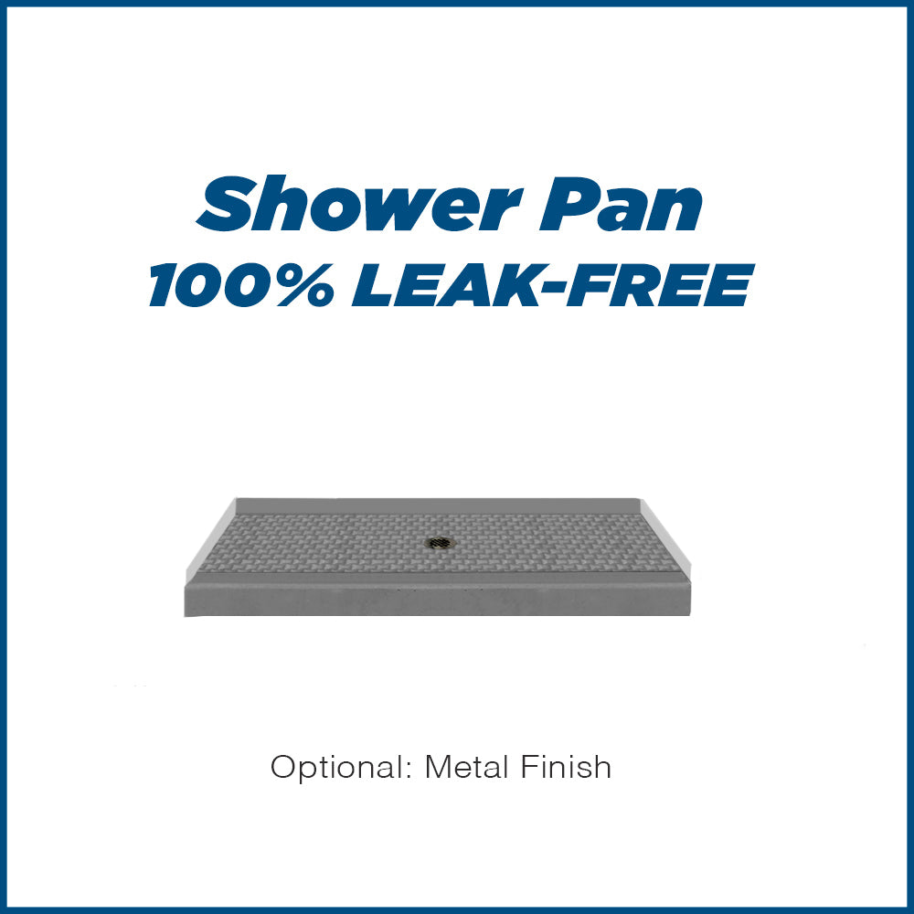 "Jewel Wet Cement 60"" Alcove Shower Kit"