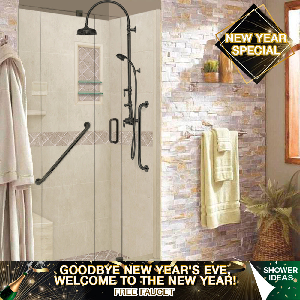 "NEW YEAR'S SPECIAL! Diamond Desert Sand 60"" ""FREEDOM Alcove Shower Kit"" with FREE FAUCET"