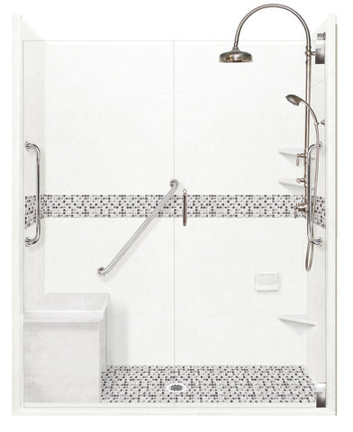 "Freedom Access 1"" Threshold Collection Del Mar Alcove Shower Kit - American Bath Factory"