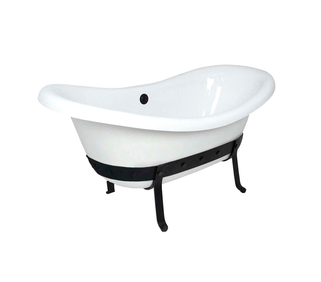 "67"" Metallo Double Slipper Bathtub"