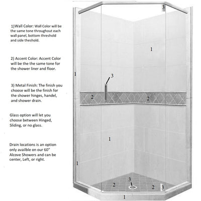 Diamond Neo-Angle Shower Kit Style & Color Options  Shower Kit - American Bath Factory