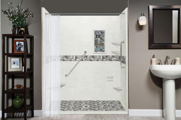 "Freedom Access 1"" Threshold Collection Newport Alcove Shower Kit"