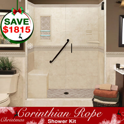 Corinthian Rope Alcove Shower Kit  Shower Kit G - American Bath Factory