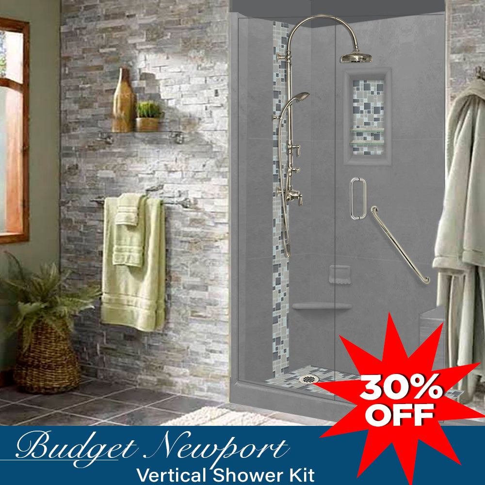 Wet Cement Alcove 2020 Shower Kit  testing shower - American Bath Factory