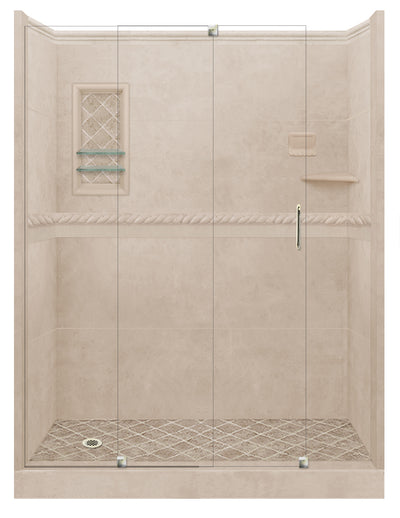 Brown Sugar Alcove Grand Shower Kit  Shower Kit - American Bath Factory