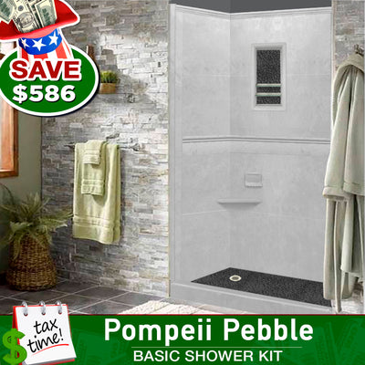 Portland Cement Alcove Basic Shower Kit  Shower Kit - American Bath Factory