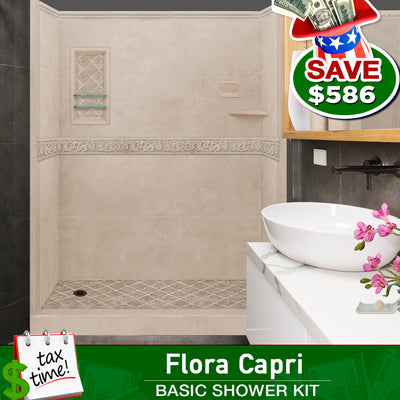 Brown Sugar Alcove ADA Handicap Shower Kit: Wheelchair Accessible  testing shower - American Bath Factory