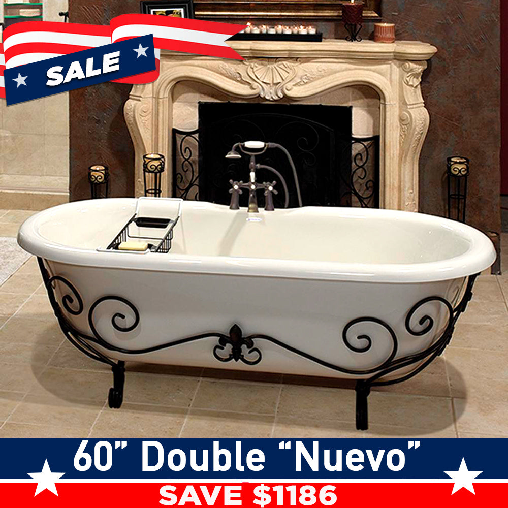 "Double Ended 60"" Nuevo & Faucet Package with I-drain"