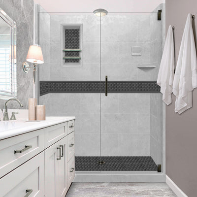 "Jewel 60"" Alcove Shower Kit Style & Color Options"