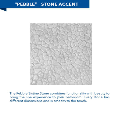 Pebble Portland Cement Corner Shower Kit