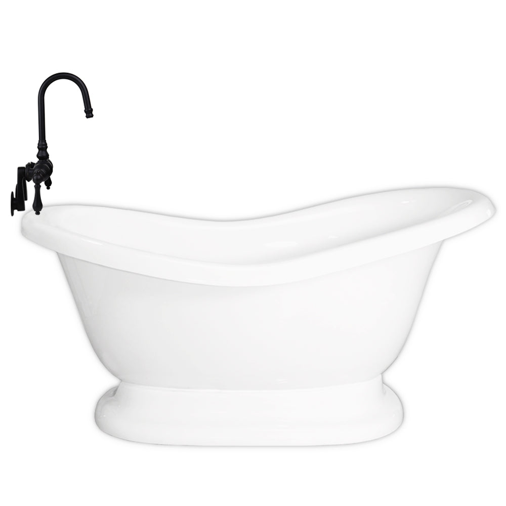 "Slipper 60"" Pedestal Base & Integrated Drain - CLEARANCE  Clearance Bathtub - American Bath Factory"