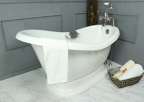 Viviana Slipper Pedestal Bathtub - American Bath Factory