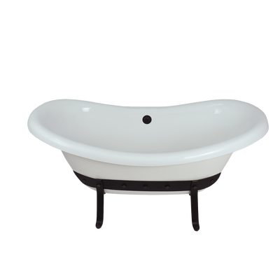 "67"" Metallo Double Slipper Bathtub  Bathtub - American Bath Factory"
